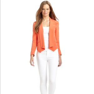 Rebecca Minkoff Becky Silk Tuxedo Jacket- Orange